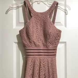 NEW Pink Lace Teen Dress